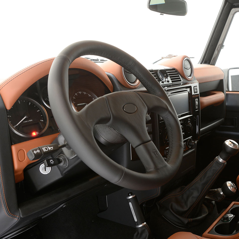 Land rover defender tuning startech refinement for Interieur sport